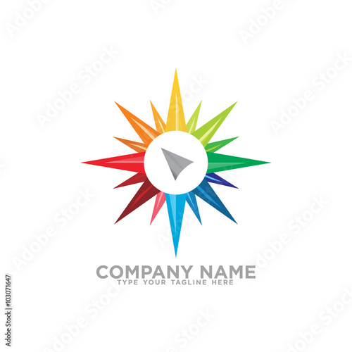 line compass logo icon stock image and royalty free vector files on