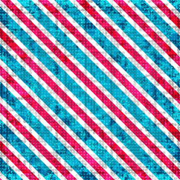red blue and white lines. abstract geometric background. vector illustration. grunge effect