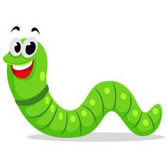 Illustration of a Cute Caterpillar Mascot