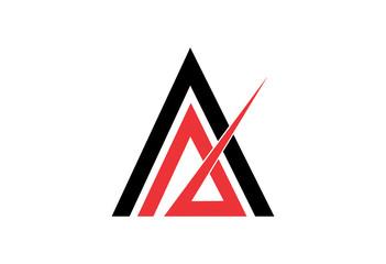 Company concept triangle vector logo