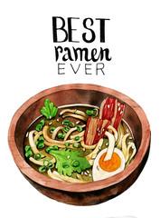 Asian ramen noodles in bowl