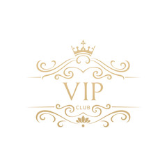 Luxury VIP logo template