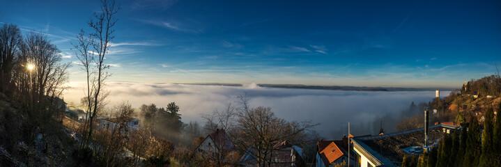 Ravensburg unter einer Nebeldecke...
