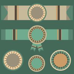 Set of vector geometric elements