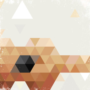 Abstract poster with geometric shaped guitar