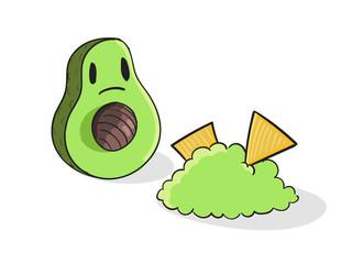 Shocked Avocado vector illustration