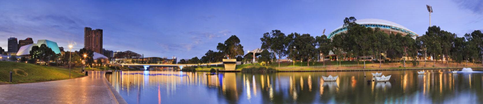 ADE River sunrise horizon panorama