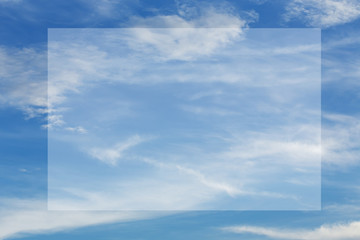 cloud on blue sky background