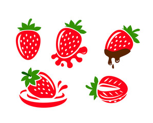 color Strawberry icons