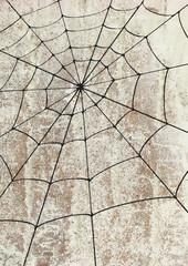 Toile surd'araignée un mur. Street art