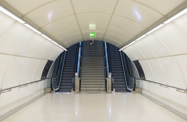 Metro tunnel exit with stairs.