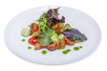 Salad Neapolitano with cherry tomatoes and mozzarella