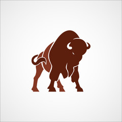 bison buffalo logo badge emblem sign isolated