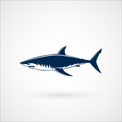 Great white shark logo sign emblem vector illustration
