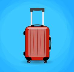 Travel bag isolated on background.