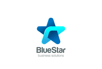 Star Logo abstract design. Social Business Logotype icon