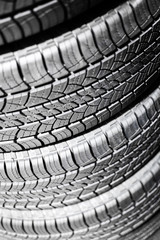 Car Tires in a Stack