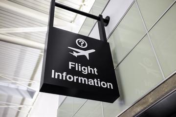 Airport Flight Information Sign