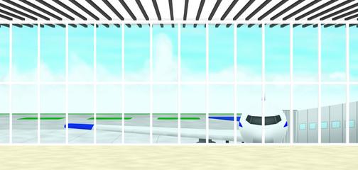 イラスト素材「空港」