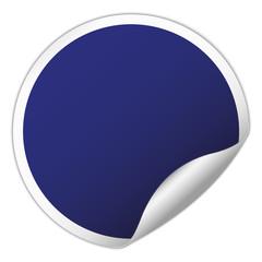 Red round sticker