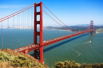 Photo sur Toile San Francisco Golden Gate Bridge, San Francisco, California, USA.