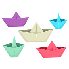 Illustration of Paper Boats