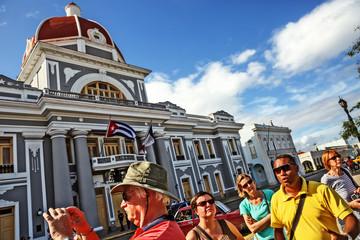 Cuba, Cienfuegos, Parque Martí Wall mural