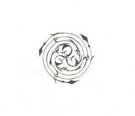 round celtic design triskelion