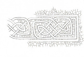 antistress coloring: celtic design