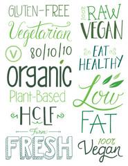 Vegan Hand drawn Text Elements