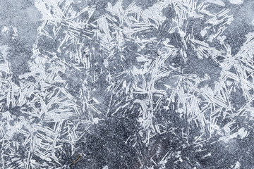 The background texture of ice crystals. Icy pattern, in winter