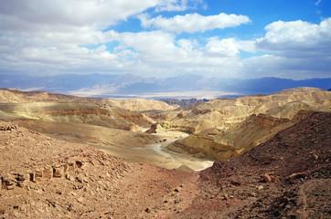 Israeli landscape near Eilat in the day