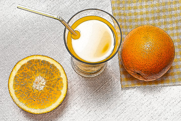 illustration of juice with orange