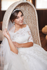 Beautiful Bride Portrait wedding makeup, hairstyle