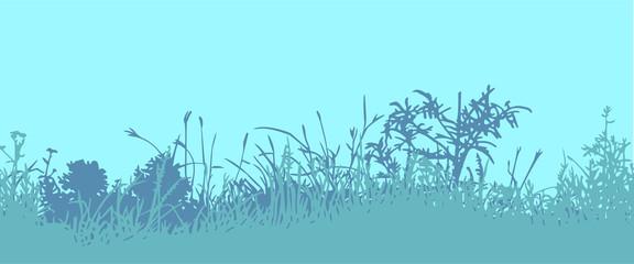 Grass. Horizontal seamless pattern