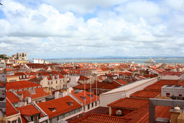 Stunning view on Lisbon city, Portugal