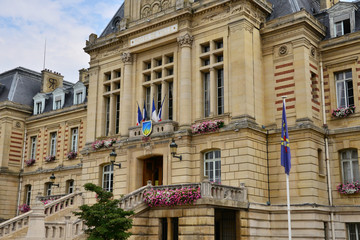 France, the  city hall of Evreux in Normandie