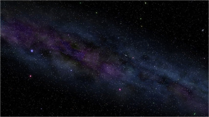 Night sky filled with stars milky way.