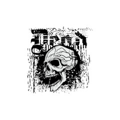 Gothic coat of arms with skull, grunge, cross vintage design t-shirts