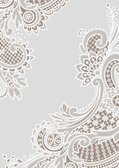 White Lace Backgrounds. Corners.