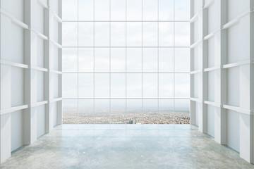 Empty big hall interior