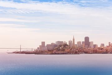Wall Mural - San Francisco downtown and Oakland Bay Bridge