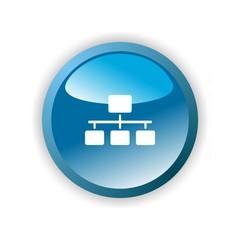 Icon organization blue button