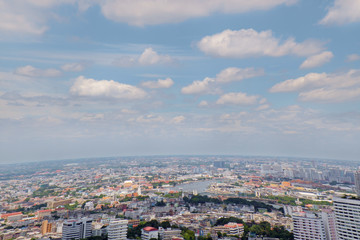 Bangkok city / View of Bangkok city near Chao Phraya river, Thailand.