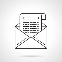 Business correspondence icon flat line vector icon