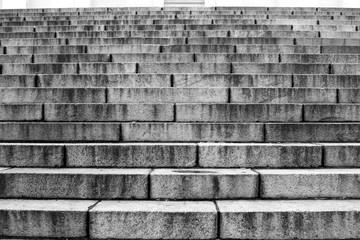 Stone granite steps.