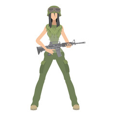 soldier girl  arms