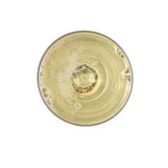 champagne bubbles top view