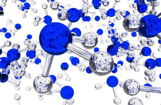Ammonia Molecules Background