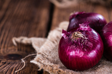 Red Onions (close-up shot)